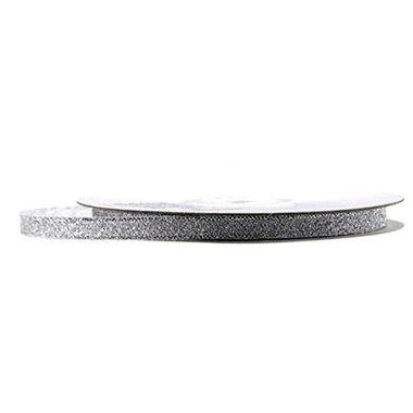 Metalic lint 1 cm zilver