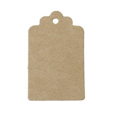 Kraft label 3 x 5 cm schulpjes 10 stuks