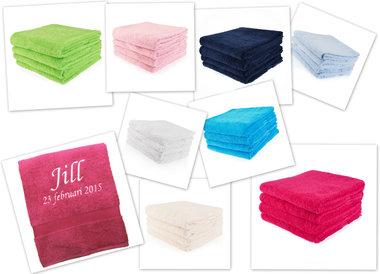 Handdoek met naam en geboortedatum