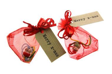 Kerst bedankje gelukszakje chinees gelukspoppetje