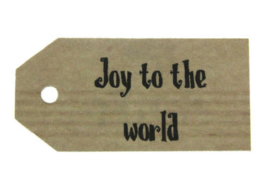Kraft label joy to the world