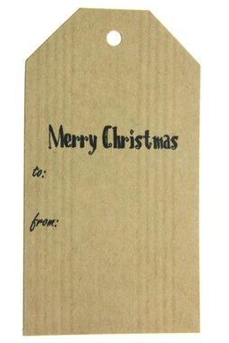 Kraft label xl merry christmas to-from