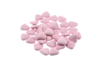 Bruidsuiker hartvormig mini Roze
