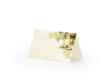 25 stuks tafel kaartje met ringen en rozen