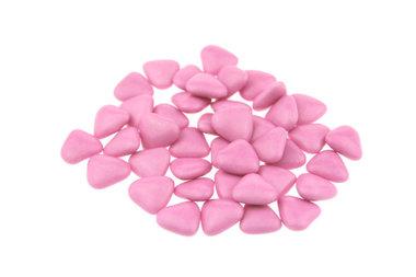 Doopsuiker hartvormig mini fuchsia
