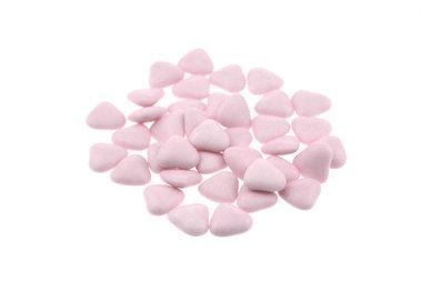 Doopsuiker hartvormig mini roze
