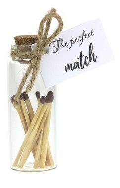 Bedankje geluksflesje the perfect match