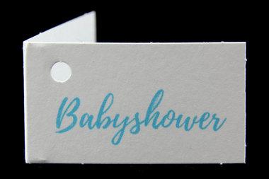 Kaartjes babyshower blauw
