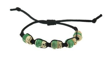 Armband gelukspoppetjes groen