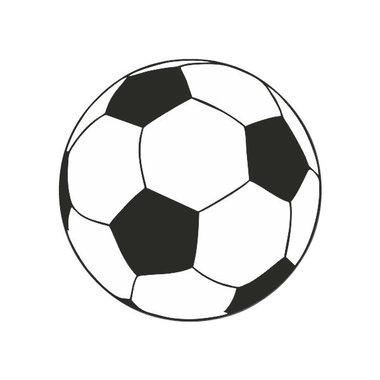 Ronde stickers voetbal 10 stuks