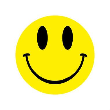 Ronde stickers smile 10 stuks