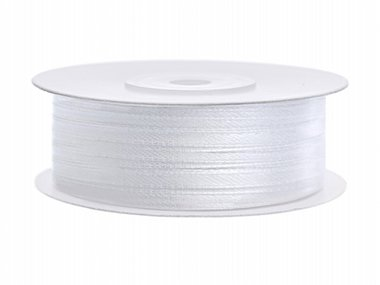 Wit satijn lint 3 mm breed