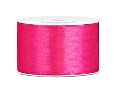 Fuchsia satijn lint 38 mm breed