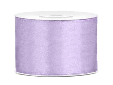 Lavendel satijn lint 5 cm breed