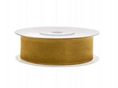 Goud organza lint 2 cm breed