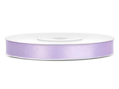 Lavendel satijn lint 6 mm breed