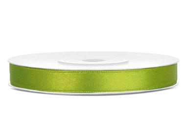 Lime groen satijn lint 6 mm breed