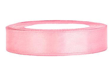 Roze satijn lint 1 cm breed