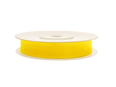 Organza lint 6 mm geel