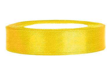 Geel satijn lint 1.5 cm breed