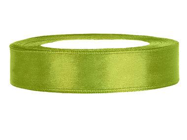 Olijf groen satijn lint 1.5 cm breed