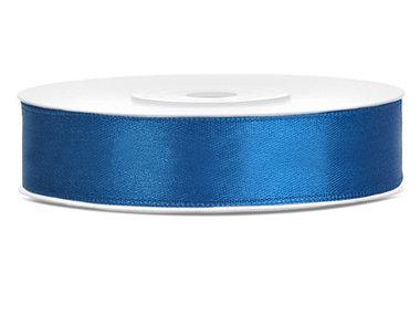 Dubbelzijdig satijn lint 1,5 cm breed blauw