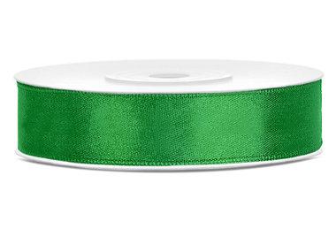 Dubbelzijdig satijn lint 1,5 cm breed groen