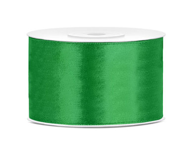Dubbelzijdig satijn lint 38 mm groen