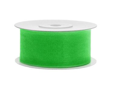 Organza lint 38 mm groen