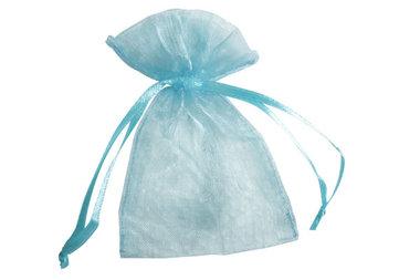 Organza zakjes 5 x 7 cm licht blauw