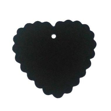 Zwart label hart geschulpt 10 stuks