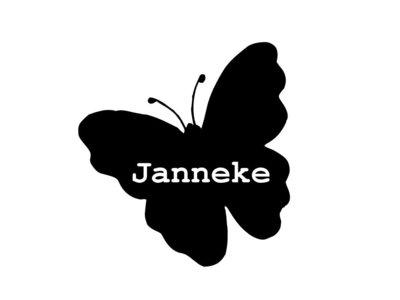 Sticker Vlinder met naam