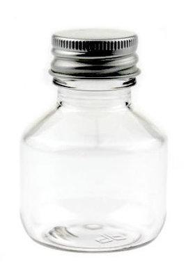 55 Flesjes met metalen schroefdop