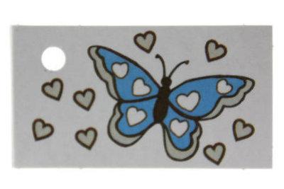 Kaartje vlinder aqua