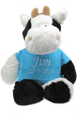 Geboorteknuffel koe met naam en geboortedatum