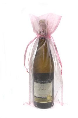 Organza wijnfleszak roze