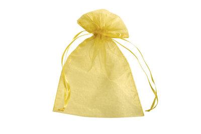 Organza zakjes 10 x 15 cm goud