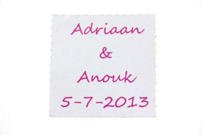 12 Labels namen en huwelijksdatum