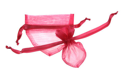 Organza zakje Hartvormig Fuchsia
