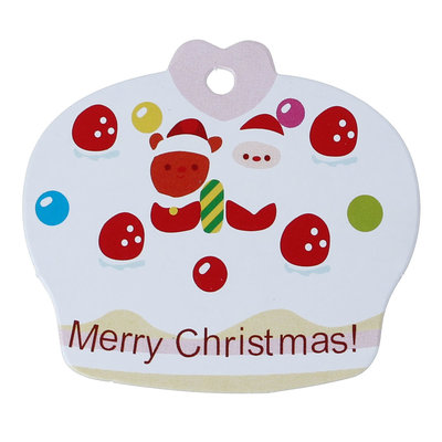 10 Kaartjes kerst cupcake