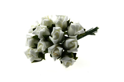 Foam roosjes wit