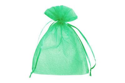 Organza zakje 7,5 x 10 cm Groen