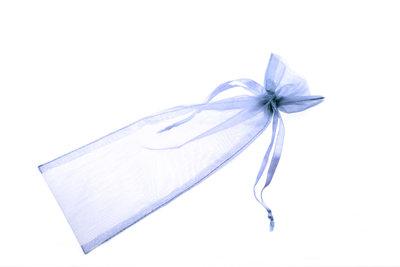 Organza zakje 8,5 x 27 cm Licht blauw