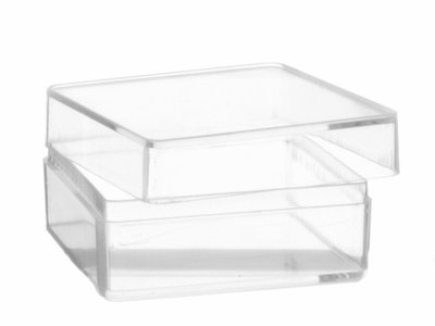 Transparante vierkant doosje hersluitbaar