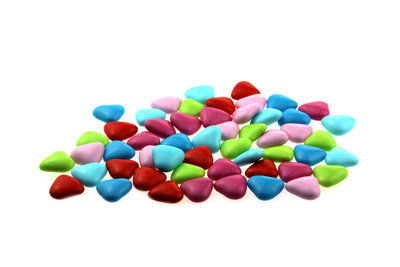 Doopsuiker hartvormig mini mix multicolour