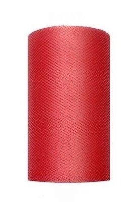 Tule lint rood 8 cm