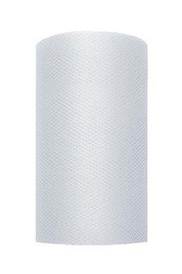 Tule lint licht grijs 8 cm