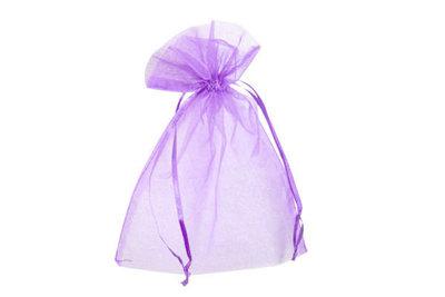 Organza zakje 12.5 x 17.5 cm Lavendel