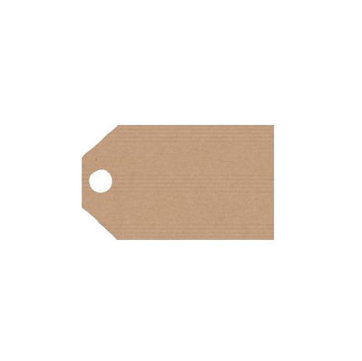10 kraft labels 2.5 x 5.5 cm