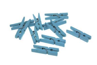 10 Wasknijpertje Licht Blauw 2.5 cm